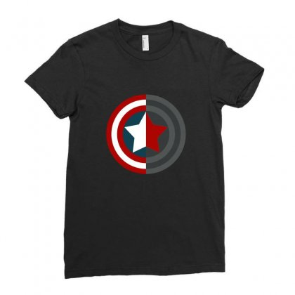 Colorful Shield Ladies Fitted T-shirt Designed By Wings