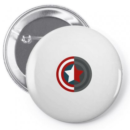 Colorful Shield Pin-back Button Designed By Wings