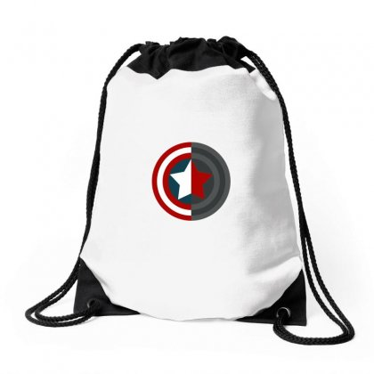 Colorful Shield Drawstring Bags Designed By Wings