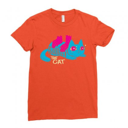 Squish That Cat Ladies Fitted T-shirt Designed By Artwoman