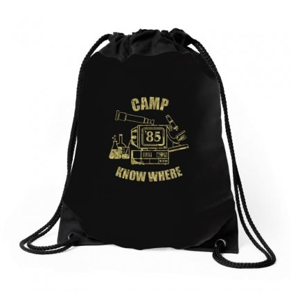 Stranger Things    Camp Know Where Official Drawstring Bags Designed By Artwoman