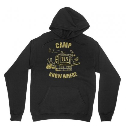 Stranger Things    Camp Know Where Official Unisex Hoodie Designed By Artwoman