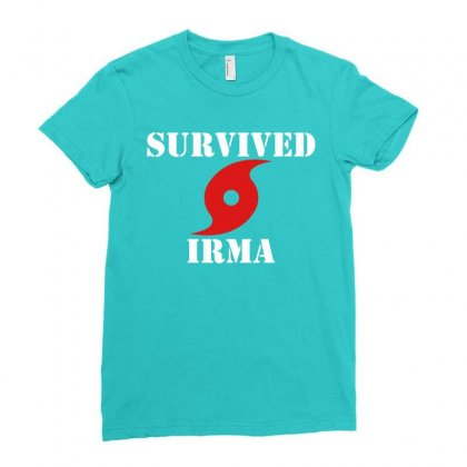 Survived Irma Ladies Fitted T-shirt Designed By Artwoman