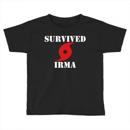 Survived Irma Toddler T-shirt Designed By Artwoman