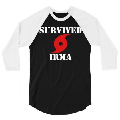 Survived Irma 3/4 Sleeve Shirt Designed By Artwoman