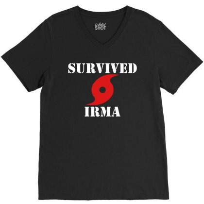 Survived Irma V-neck Tee Designed By Artwoman