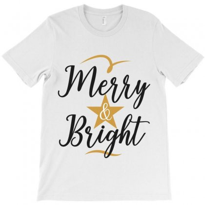 Merry & Bright T-shirt Designed By Estore