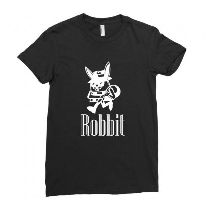 Robbit Shirt Rabbit Robber Funny Sarcastic Ladies Fitted T-shirt Designed By Platinumshop