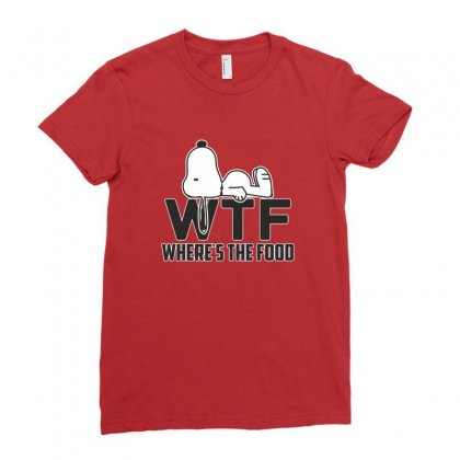 Wtf Where's The Food Shirt Ladies Fitted T-shirt Designed By Platinumshop