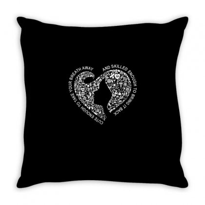 Cute Enough To Take Your Breath Away And Skilled Enough To Bring It .. Throw Pillow Designed By Cuser2324
