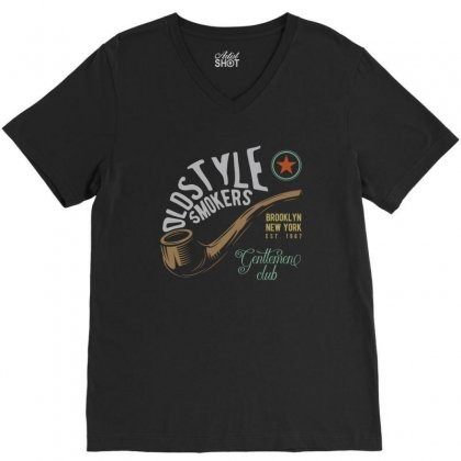 Old Style V-neck Tee Designed By Emardesign