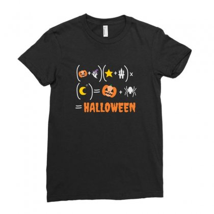 Halloween For Math Lovers Ladies Fitted T-shirt Designed By Platinumshop