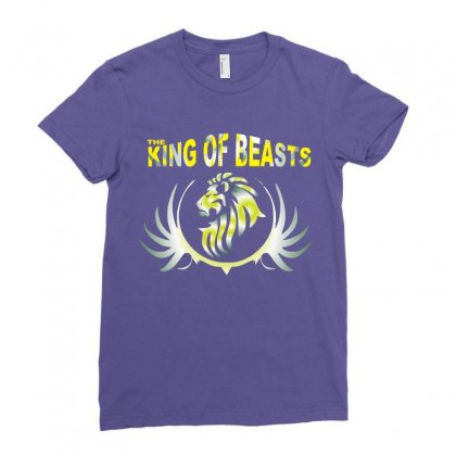 Lion Ladies Fitted T-shirt Designed By Xprime