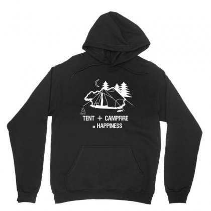 Tent+campfire= Happiness Unisex Hoodie Designed By Cuser2324