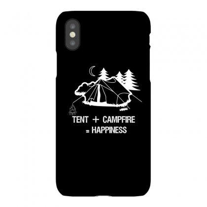 Tent+campfire= Happiness Iphonex Case Designed By Cuser2324