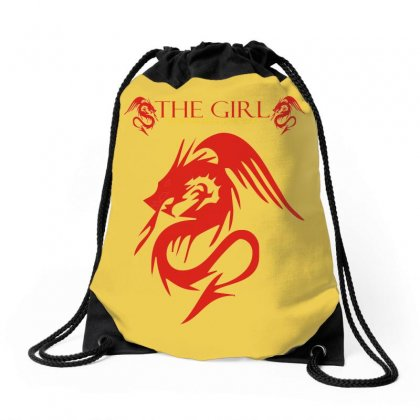 Dragon Tattoo Drawstring Bags Designed By Xprime
