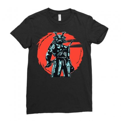 Cybersamurai Ladies Fitted T-shirt Designed By Arsyad