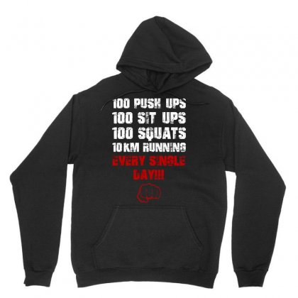 Daily Workout Unisex Hoodie Designed By Arsyad