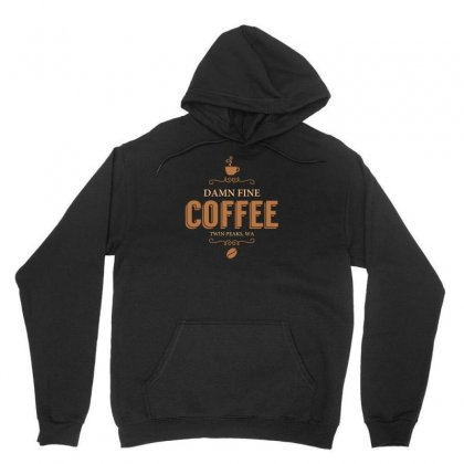 Damn Fine Coffee Unisex Hoodie Designed By Arsyad