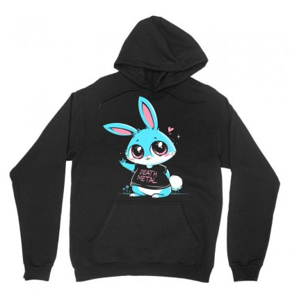 Death Metal Bunny Unisex Hoodie Designed By Arsyad