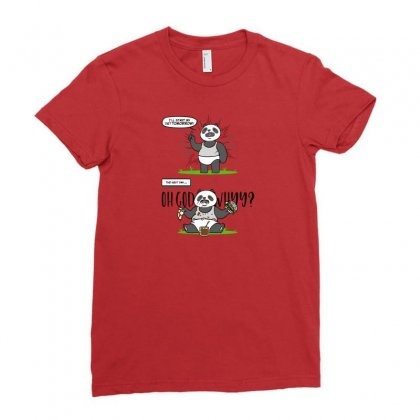 Diet Panda Ladies Fitted T-shirt Designed By Arsyad