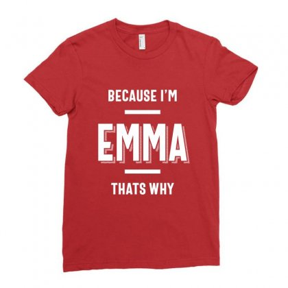 Emma Name Personalized Women Girl Ladies Fitted T-shirt Designed By Cidolopez