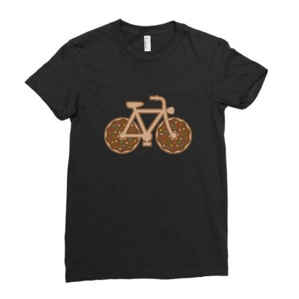 Donut Bike Ladies Fitted T-shirt Designed By Arsyad