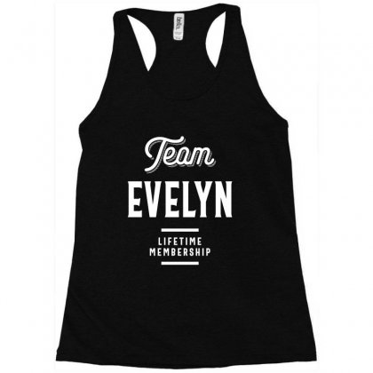 Team Evelyn Shirt | First Name Family Reunion Gift Racerback Tank Designed By Cidolopez