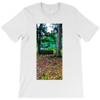 Old Swing On An Oak Tree T-shirt Designed By Unscathed