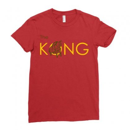 The Kong Ladies Fitted T-shirt Designed By Artwoman