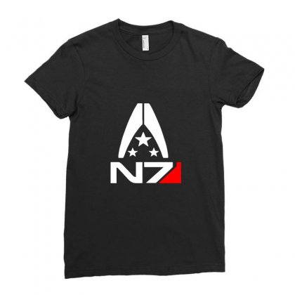 N7 Logo Ladies Fitted T-shirt Designed By Peri