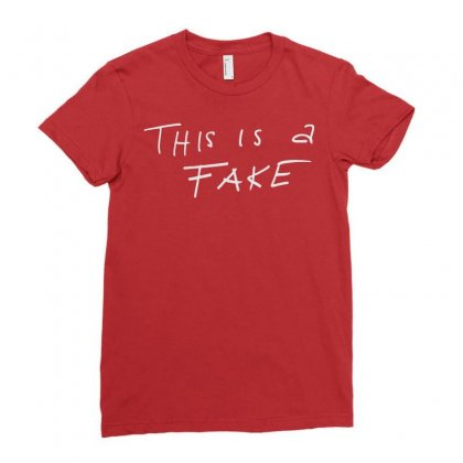 This Is A Fake Ladies Fitted T-shirt Designed By Artwoman