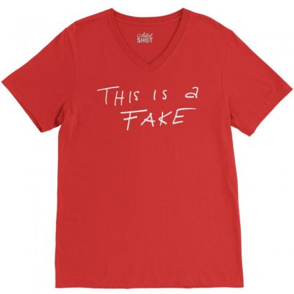 This Is A Fake V-neck Tee Designed By Artwoman