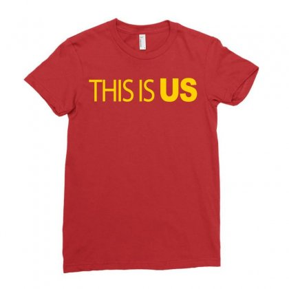 This Is Us Ladies Fitted T-shirt Designed By Artwoman