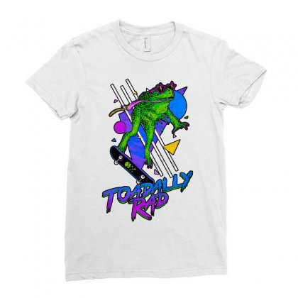 Toadally Rad Ladies Fitted T-shirt Designed By Artwoman