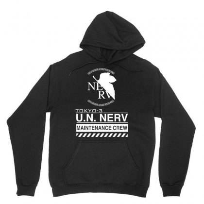 Tokyo 3 Nerv White Unisex Hoodie Designed By Artwoman