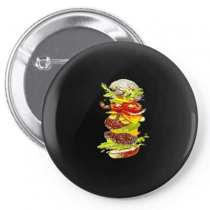 Flying Hamburger Pin-back Button Designed By Minttastic