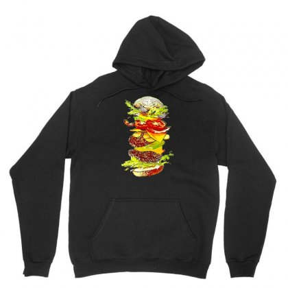 Flying Hamburger Unisex Hoodie Designed By Minttastic