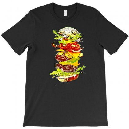 Flying Hamburger T-shirt Designed By Minttastic
