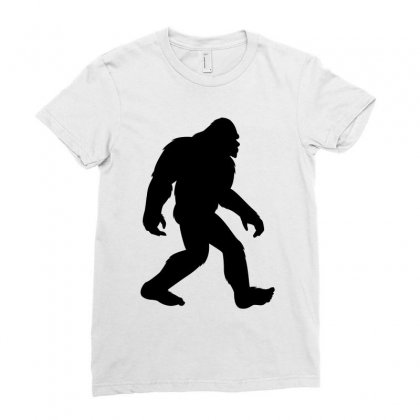 Bigfoot In Black Design Ladies Fitted T-shirt Designed By Prince Ali