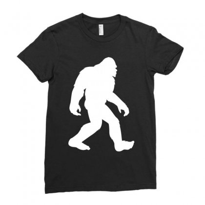 Bigfoot Ladies Fitted T-shirt Designed By Prince Ali