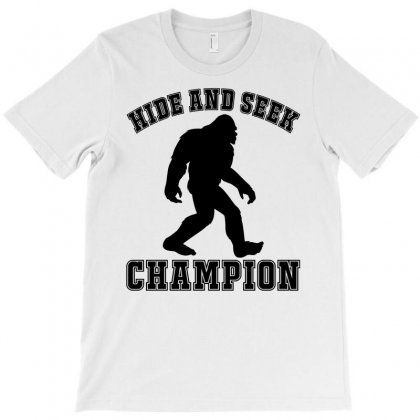 Bigfoot   Hide And Seek Champion T-shirt Designed By Lawrensia