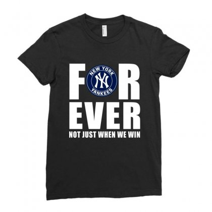 Forever New York Baseball Ladies Fitted T-shirt Designed By Designby21