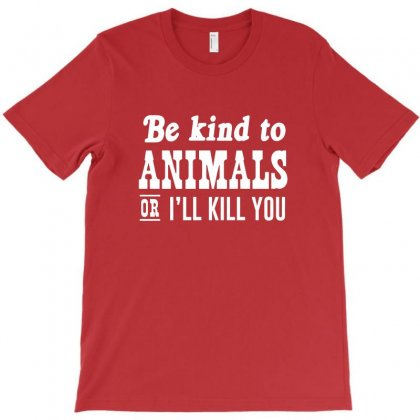 Be Kind To Animals T-shirt Designed By Krisshatta