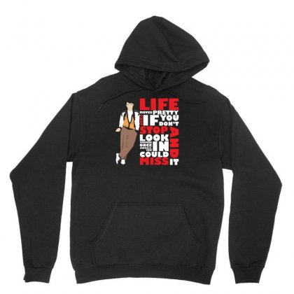 Life Moves Pretty Fast (white) Unisex Hoodie Designed By Arsyad