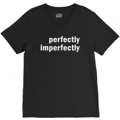 Perfectly Imperfectly V-neck Tee Designed By Redberries