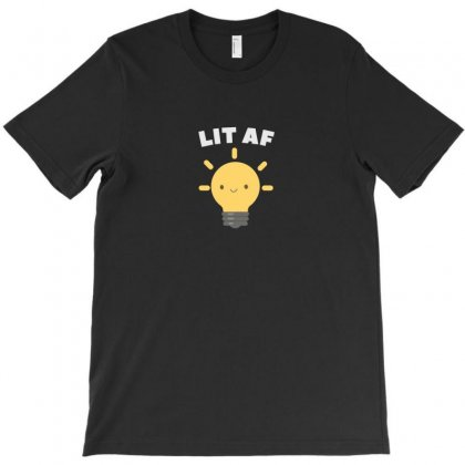 Lit Af Kawaii Light Bulb T-shirt Designed By Arsyad
