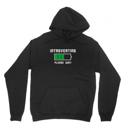 Low Battery Introvert Pun Humor Unisex Hoodie Designed By Arsyad