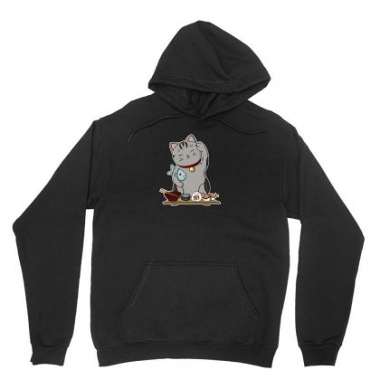 Lucky Cat Unisex Hoodie Designed By Arsyad