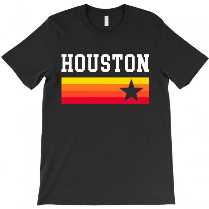 Houston Baseball Texas Vintage Stripes T-shirt Designed By Tee Station